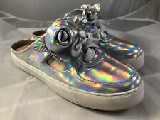 Penny Loves Kenny Astound Silver Roses Shoes Women Size 8