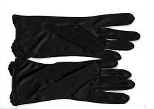 Dark blue satin & silk like gloves (brand new pair)
