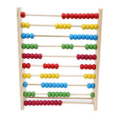 Abacus Toy - Wooden Counting Frame with Beads Arithmetic Math Puzzle Toy N7