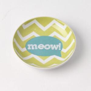 Cat Saucer Dish - Meow! Lime Green