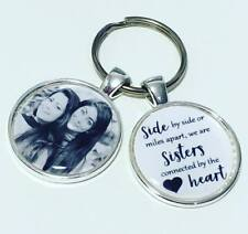 Personalised Sister photo keyring, sister gift * FREE P&P