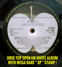 BEATLES WHITE ALBUM MEGA RARE XP timbrato UK Top Aperto Stereo