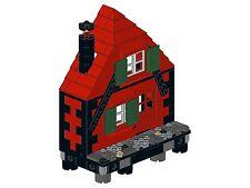Lego - Old Town - F03 - Haus II (gerade - rot&schwarz)