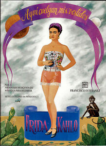 Frida Kahlo Mexican Figures in Paper Dolls, new uNCUT