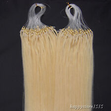 Easy Loop Micro Ring Bead Tip 100% Remy Human Hair Extensions Blonde 200S 26Inch