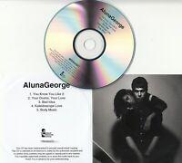 ALUNAGEORGE Album Sampler 2012 UK watermarked & numbered 5-track promo only CD