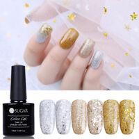 7.5ml UR SUGAR Nail UV Gel Polish Champagne Gold Silver Glitter Varnish Nail Art