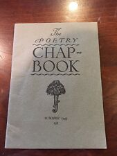 The Poetry Chap Book, Summer 1943 Poetry related to World War II