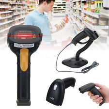 3.3mil Black POS USB Portable Automatic Laser Bar Code Reader Scanner With Stand