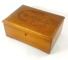 "Vintage Music Box Hand Carved Flowers ""Roses from The South"" Johann Strauss Jr."