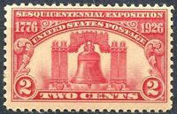 SCOTT # 627 - TWO CENT LIBERTY BELL STAMP -  1926 -  UNUSED -  OG  -  NH  - MINT
