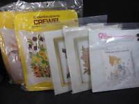 Columbia Minerva Crewel Embroidery Kits - You Pick - Read Listing