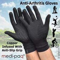 Medipaq® Anti ARTHRITIS COPPER Compression Therapy Gloves Hand Pain Grip