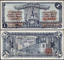 MEXICO 1 PESO 1915 UNC But aUNC / UNC ESTADO LIBRE Y SOBERANO P.S881