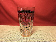 Vintage Cocktail Recipe Glass Black on Clear
