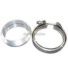 "4"" Aluminum Vband V-Band Clamp Flange kit For Turbo Intercooler Pipe"