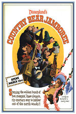 "DISNEY COLLECTOR'S POSTER 12"" X 18"" - DISNEYLAND'S COUNTRY BEAR JAMBOREE"