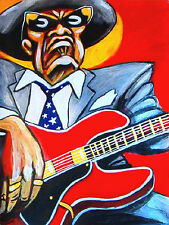 JOHN LEE HOOKER PRINT poster delta country house of blues cd gibson boogie chill