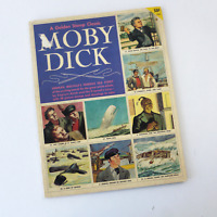 The Golden Stamp Classic Of Moby Dick, 1956 Simon Schuster 48 pg Book / Stamps