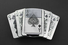 !! Poker Royal Flush Belt Buckle with Removable Ace Lighter !!