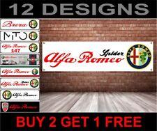 Alfa Romeo Spider Banner für Werkstatt, Garage, Amt usw.