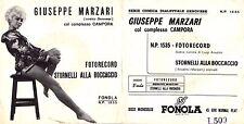 DISCO 45 GIRI    GIUSEPPE MARZARI - FOTORECORD // STORNELLI ALLA BOCCACCIO