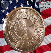 "Militia ""From my Cold Dead Hands"" Copper Round 1 oz .999 Very Limited and Rare"