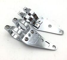 41mm Turn Signal Clamps Headlight Mount Bracket Fork Clamp For Harley Honda Chro