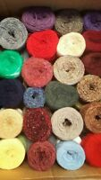 Yarn Cakes Assorted Plys Textures wool Crochet Knitting 500g toy making crafts