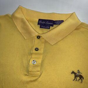 Ralph Lauren Purple Label Designer Polo Shirt Yellow Size X Large Rare