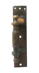 Antique Traditional Left Hand Single Bronze Door Pull