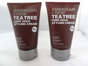 American Crew Tea Tree Firm Hold or Light Hold Styling Cream 4.23 oz