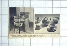 1936 Furniture And China At Exhibition Of Everyday Things Riba