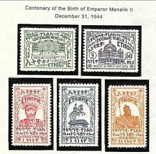 ETHIOPIA Sc 263-67 LH issue of 1944 - MENELIK II