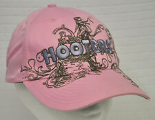 HOOTERS Pink EMBELLISHED Baseball Cap HAT Adjustable COTTON Mission Valley CA