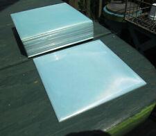 18 VTG POLYSTYRENE WALL TILES PLASTIC UNUSED KITCHEN BATHROOM CRAFTS BLUE PEARL