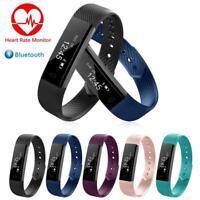 Heart Rate Blood Pressure Oxygen Fitness Tracker Smart Bracelet Watch Wristband