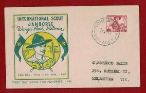 1948 Australia Scouts Jamboree, Wonga Park, 15 Nov 1948, Rare FDC