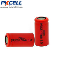 2x PKCELL imr18350 Rechargeable Vape Mod High Drain Batteries(3.7v,700mAh)