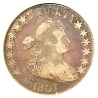 1805 Draped Bust Half Dollar 50C Coin - Certified ANACS VF30 - $780 Value!