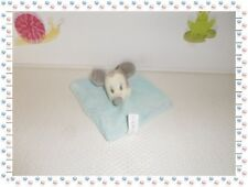 C - Mini Doudou Plat Carré Mickey Bleu Disney Nicotoy