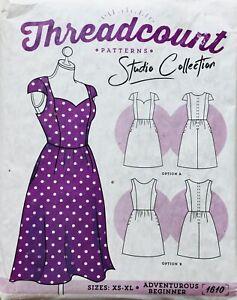 Modern SWEATHEART VINTAGE INSPIRED DRESS Sewing Pattern SIZE XS-XL UNCUT (T1610)