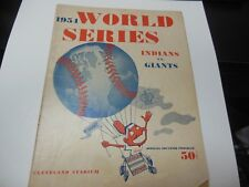 1954 WORLD SERIES CLEVELAND INDIANS vs NY GIANTS MLB BASEBALL PROGRAM DECENT