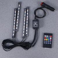 Coche RGB LED Tira de Luz Luces Interiores Multicolores del Coche de la Musica