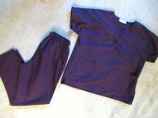 New Unisex Scrub Uniform Top & Pants 2-Piece Set Xl Topline Uniforms Plum