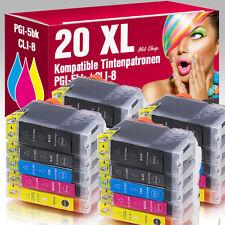 20er Set Patronen für Canon Pixma IP4200 IP4500 IP5200 IP4300 MP610 PGI5 CLI8