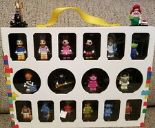 Lego Disney MiniFigures Series# 71012 lot of 18 with Lego Display case for 16