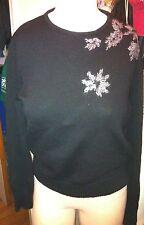 PHILOSOPHY DI ALBERTA FERETTI black Long Sleeve  Sweater Sz M 100% wool