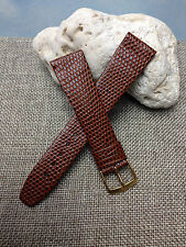 20mm BROWN VINTAGE HIRSCH RAINBOW GENUINE LEATHER MEN'S WATCH BAND NEW OLD STOCK