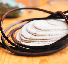 1 m Büffelleder Braun Vegetabil Lederband 2,5 x 2,5 mm VIERKANT Lederriemen Band